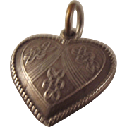 SALE Sterling 40s  puffy heart charm