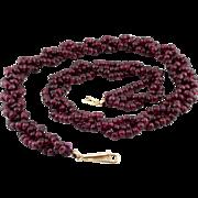 SALE Art Deco 14k Almandine Garnet Necklace