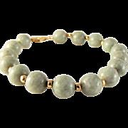 SALE 1/2 OFF 14K Jade Jadeite Beaded Bracelet