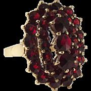 SALE Early 20c 14k Bohemian Garnet Ring