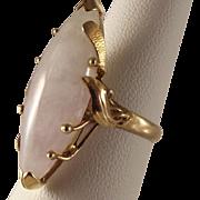 REDUCED 14K Lavender Jadeite Jade Ring