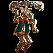 SALE Vintage Danecraft Merry Christmoose Brooch