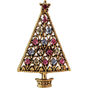 REDUCED CLEARANCE Eisenberg Ice Christmas Tree Brooch