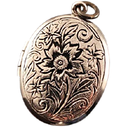 SALE STORE WIDE WE Hayward Sterling Silver Vintage Floral Locket