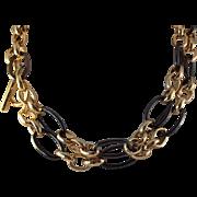 "SALE STORE WIDE 36 "" Liz Claiborne Adjustable Oval Circle Chain Necklace"