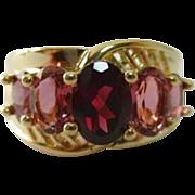 SALE STORE WIDE 14K Garnet Tourmaline Ring