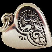 SALE Unusual Deco silver Fob Locket charm