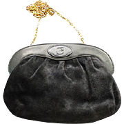 SALE ITALY Nazareno Gabrielli Black Suede and  Leather Purse