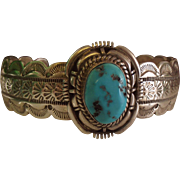 SALE Sterling Silver Turquoise cuff Bracelet