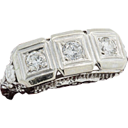 Art Deco 14k .75 ctw Diamond Filigree Ring