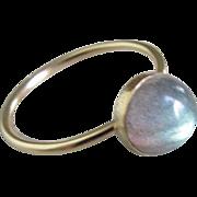Gold Filled Labradorite ring - Size 8