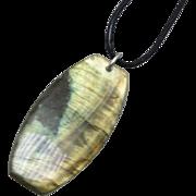 Labradorite Pendant - Natural Unisex Stone Jewelry - Flash Pendant