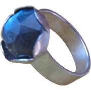 Labradorite ring - Sterling Silver stone Ring - Size 6 1/2