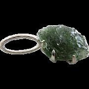 Moldavite Silver Pendant