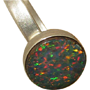 Natural Australian Doublet Opal ring - Prestigious gift - Handmade Opal jewelry