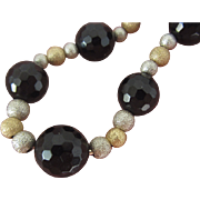 ONYX  Silver Gold Fill Necklace