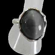 Large Cat's Eye ring - Rustic Natural Quartz Cat's eye Ring