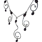 SOLD Christmas Gift - Amethyst Silver necklace