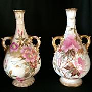 SALE Exquisite Pair of Royal Bonn Vases