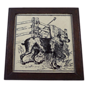 Minton and Hollins Sheep Dog Tile William Wise 1880s