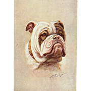 The Bulldog Embossed Artist Signed Postcard