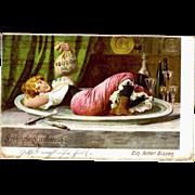 Ottmar Zieher Heliocolorkarte German Fantasy Postcard 1906