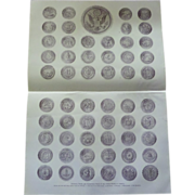 National, State and Territorial Seals of the United States of America half tone print 1900 ...