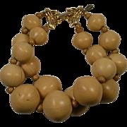 Marvella Round Wooden Beaded Bracelet