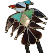 Bennett Mexico Inspired Eagle Bolo Tie and Sterling Silver Tipped Cord