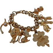 Eclectic Gold-Plated Charm Bracelet