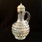 SALE Early American EAPG Pressed Glass Syrup Pitcher
