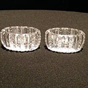 Pair of Cut Glass Salts
