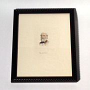 SALE Print of a Robert E Lee Painting Framed & Matted