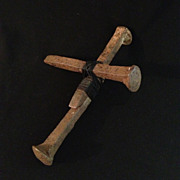 SALE Iron Railroad Anchor Spike Crucifix