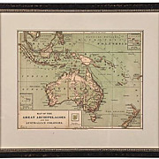 SALE Harper Bros Map of Australia & The Great Archipelagoes 1875