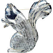 Adorable vintage carved lucite squirrel pin