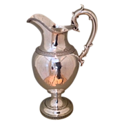 19th cent.  American coin silver water pitcher by Ball Black & Co.