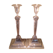British sterling candlesticks made by Gorham in 1910