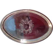 18th cent. British Sterling silver  tray