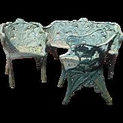 C.1880 cast iron garden set