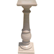 C.1880 French marble pedestal