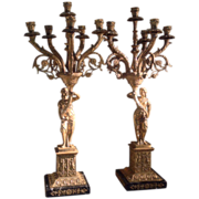 Pr. of late 19th c. Spanish Candelabra