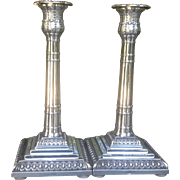 C. 1924 British Sterling Candlesticks