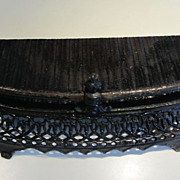 SALE Antique Fireplace Fender - Soho - James L. Jackson - Cast Iron