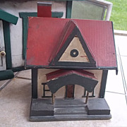 SALE Wonderful Folk Art Doll's Doll House