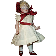 Early Kling All Bisque in Sweet Dress and Lace Bonnet