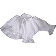 SOLD Reserved for C--Vintage Petticoat and Pantaloon set