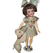 """SOLD Little Steiff """"Snobby"""" the Poodle for your 10-12"""" doll or French Fashion"""