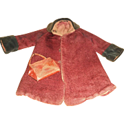 Early 20c. Red Mohair Child's Coat