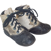 Loved Old Lace Up Shoes for Large Cloth,China Doll